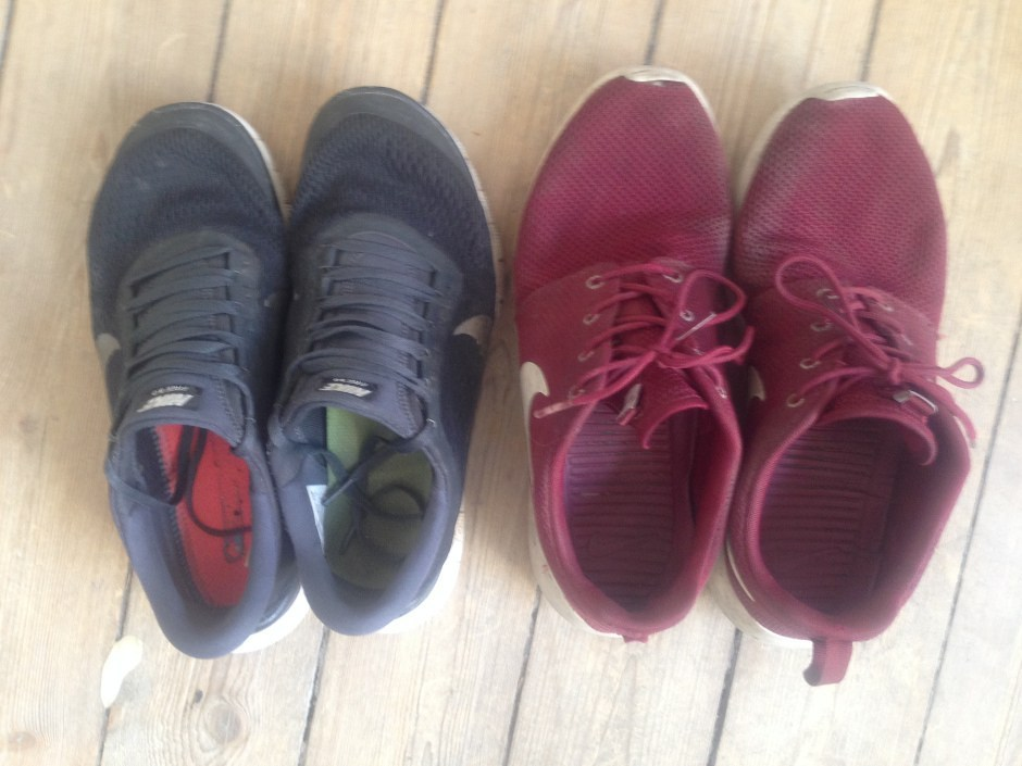 Nike Free sammenlignet med Nike Roshe Run sko
