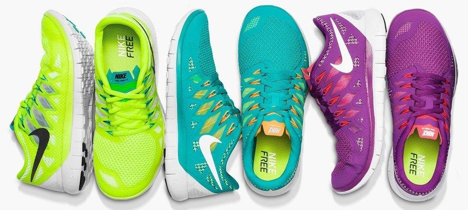 Nike free dame model farver
