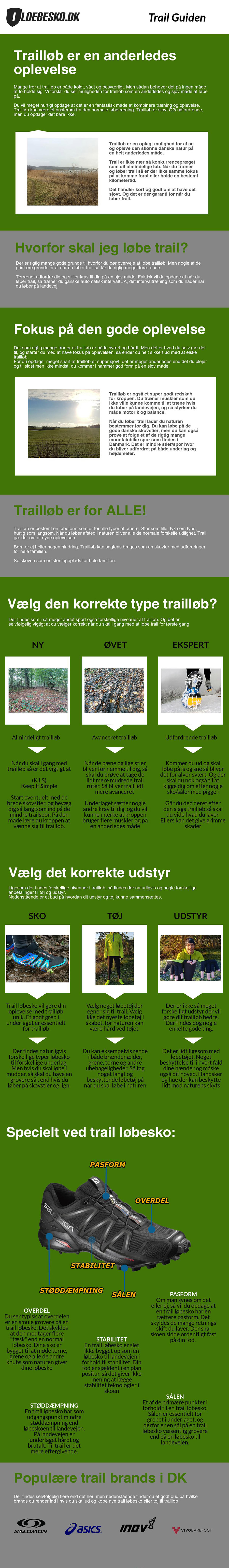 stor infochart og guide til trailløb